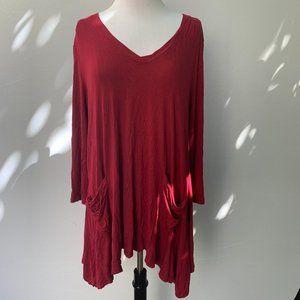 LOGO by Lori Goldstein V-neck Short Sleeves Size L